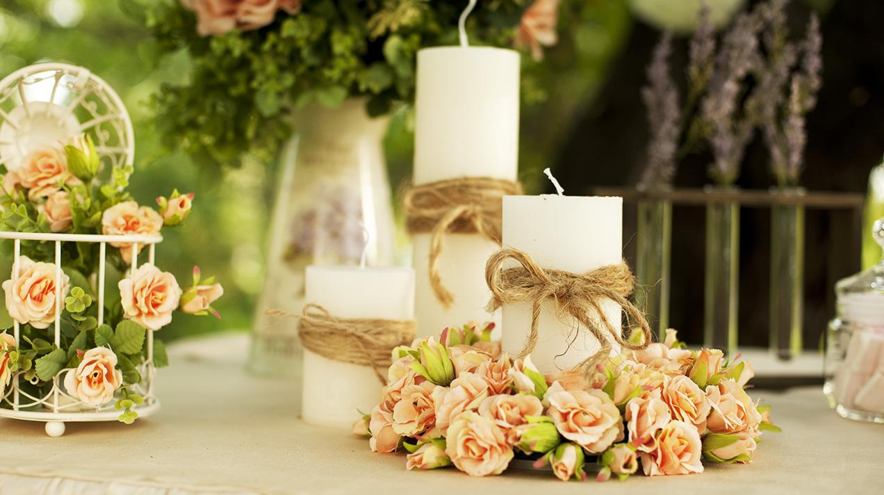 Украшения из искусственных цветов на свадьбу